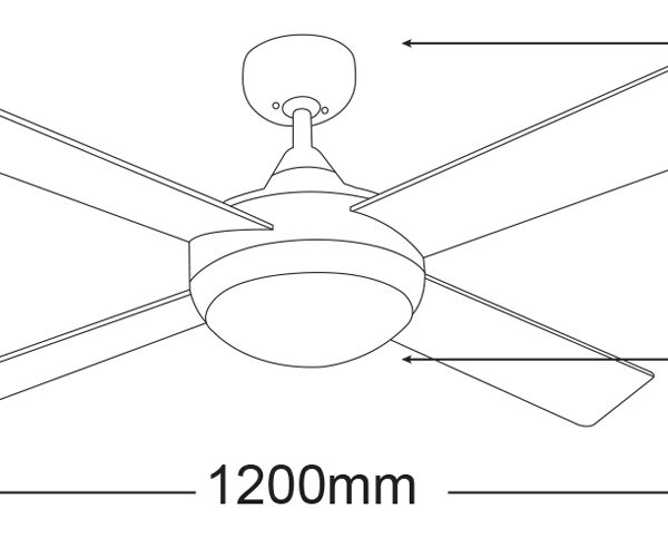 FourSeasons-Primo-FSP1244-Ceiling-Fan-Line-Drawing