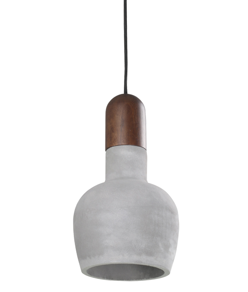 HENGE 1LT PENDANT DARK WOOD/ CONCRETE