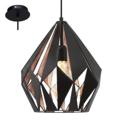 CARLTON COPPER/BLACK PENDANT
