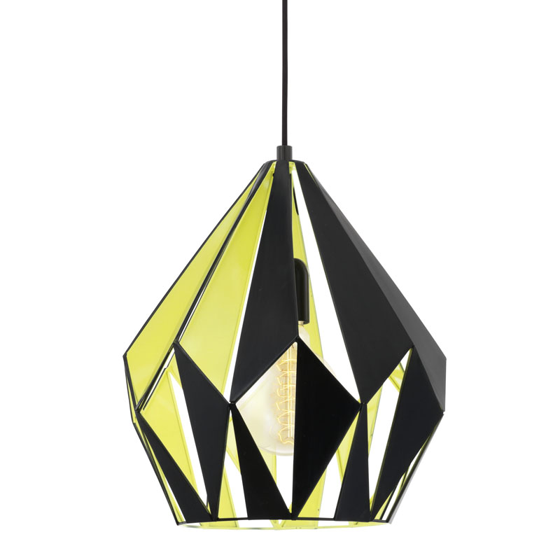 CARLTON YELLOW/BLACK PENDANT