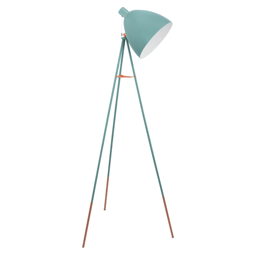 DUNDEE PASTEL GREEN & COPPER FLOOR LAMP