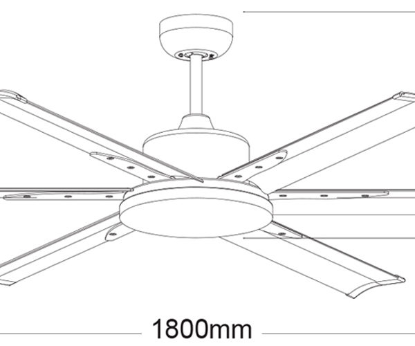 Martec-Albatross-MAFM-72-Ceiling-Fan-Line-Drawing
