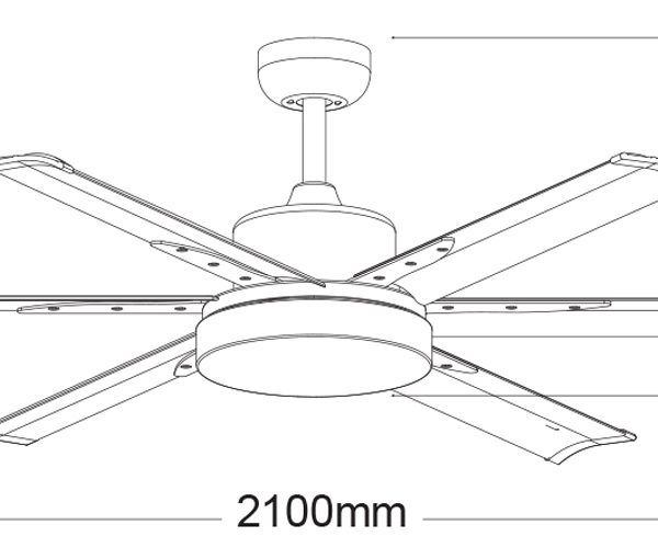 Martec-Albatross-MAFML-84-Ceiling-Fan-Line-Drawing