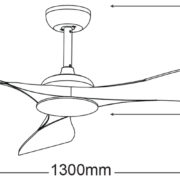 Martec-Scorpion-MSF133-Ceiling-Fan-Line-Drawing