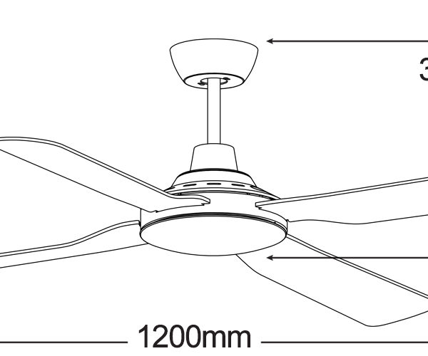 Martec-Discovery-MDF124M-Ceiling-Fan-Line-Drawing