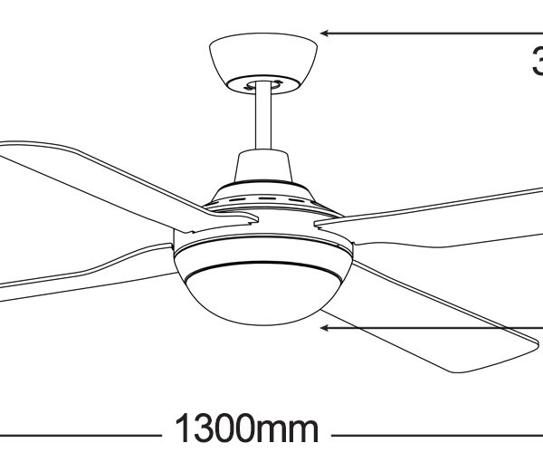 Martec-Discovery-MDF1343W-Ceiling-Fan-Line-Drawing