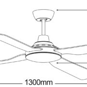 Martec-Discovery-MDF134M-Ceiling-Fan-Line-Drawing